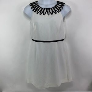 Tahari Arthur S Levine Linen Blend Lined Dress